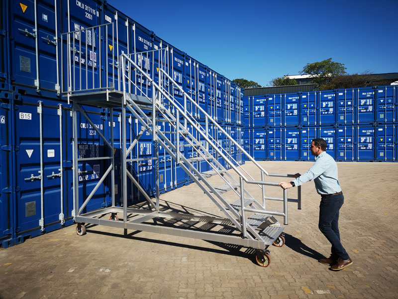 container mobile staircase